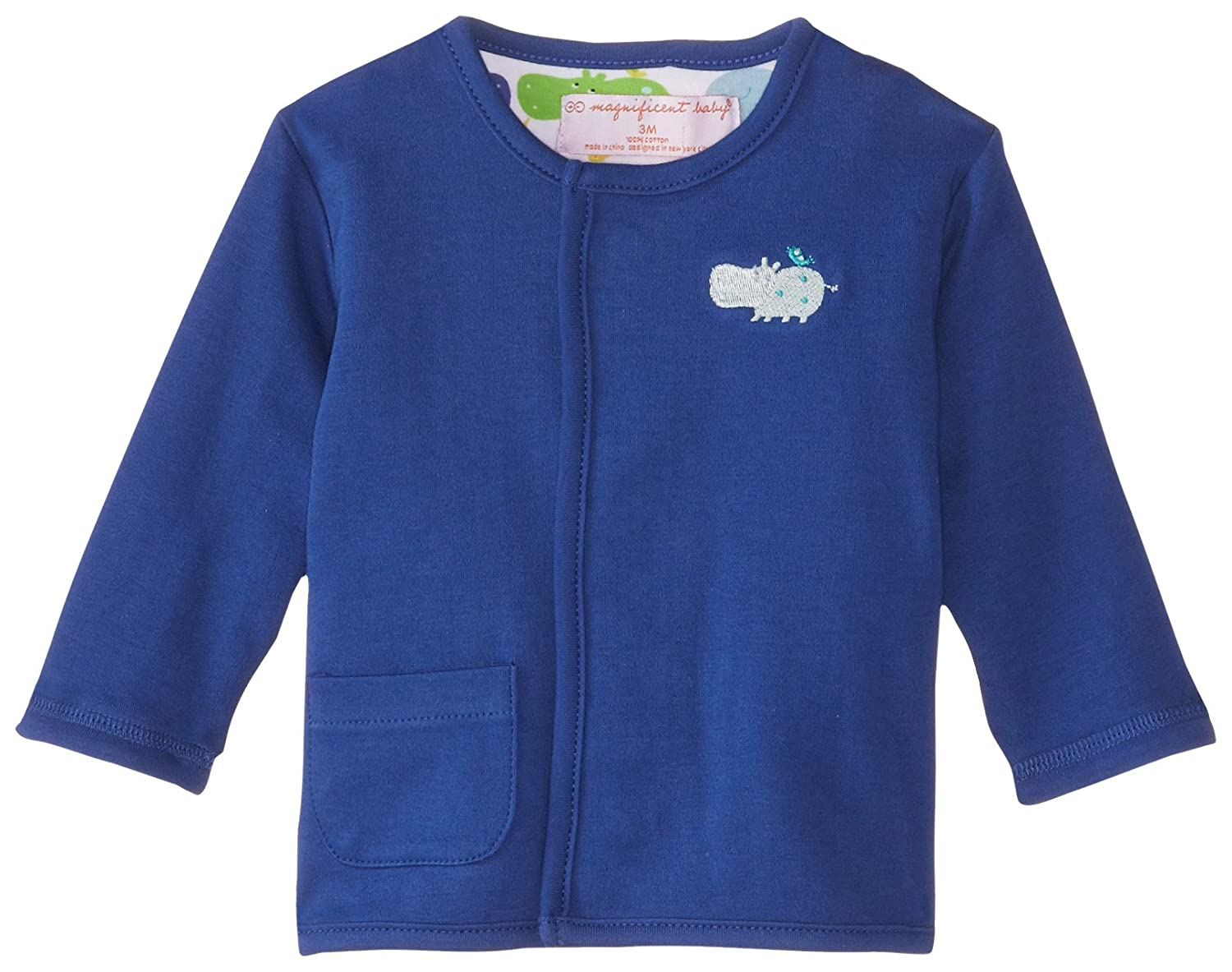 Magnificent Baby Baby-Boys Hippo Boy Reversible Cardigan 2225