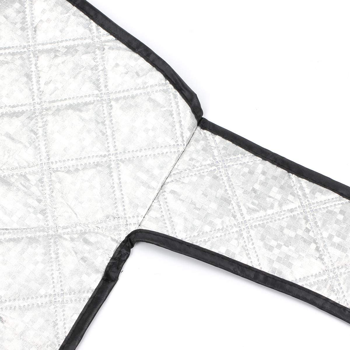 Geila Couverture /épaisse pour Pare-Brise de Voiture Protection Contre la Neige Pare-Soleil en Aluminium pour Toutes Les Saisons