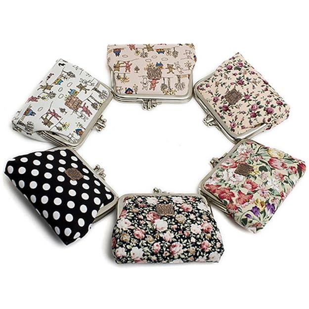 Annasui mujeres floral exquisito cierre Monedero cartera de impresión de tarjetas caso flores para las niñas: Amazon.es: Zapatos y complementos