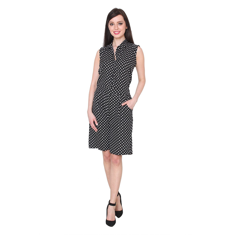 1b04d38249e8 Vivaa Polka Dot Print Sleeveless Jumpsuit for Women  Amazon.in  Clothing    Accessories