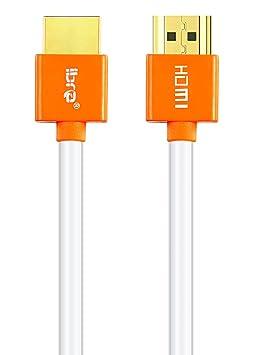 Xbox Playstation PS3 PS4 PC Ethernet Retorno de Audio,Video UHD 2160p,HD 1080p,3D IBRA 3M Orange Cable de HDMI de Ultra Alta Velocidad Cable de 18Gb//s HDMI 2.0b Soporte 4K@60Hz Fire TV
