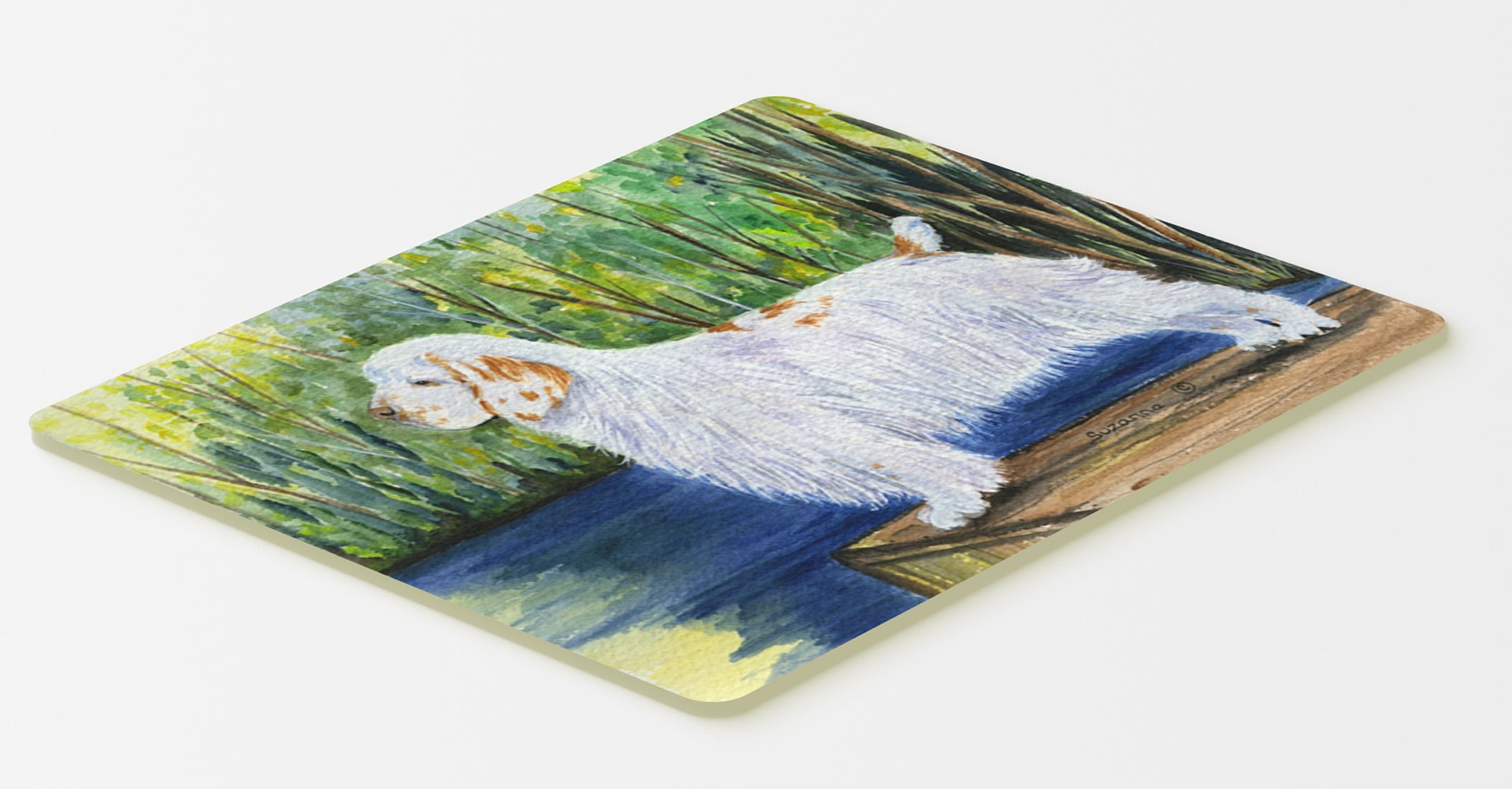 Caroline's Treasures SS8261CMT Clumber Spaniel Kitchen or Bath Mat 20x30, 20H x 30W, multicolor 1