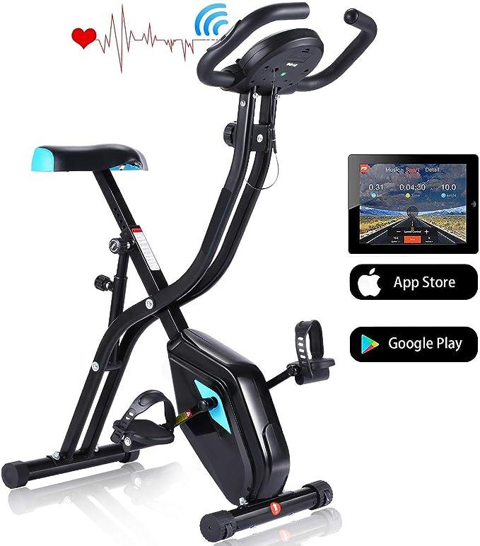 Profun Bicicleta Estática Plegable de Fitness con Respaldo Xbike ...