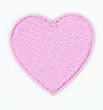 Love Pink Heart Sequin Applique Patch Iron On USA Seller