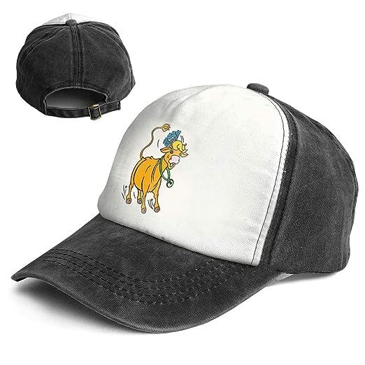 2c0b00d12 Amazon.com: Cartoon Cattle Chinese Zodiac Trend Printing Cowboy Hat ...