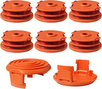 2x Trimmer Spool Cap Cover For WORX WA0216 WG119 Corded Trimmers Parts WG118