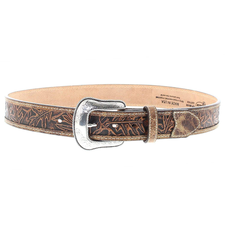 fb092108a307aa FB Fashion Boots Justin Belts Damen Herren Gürtel C13685 Westerngürtel Braun:  Amazon.de: Bekleidung