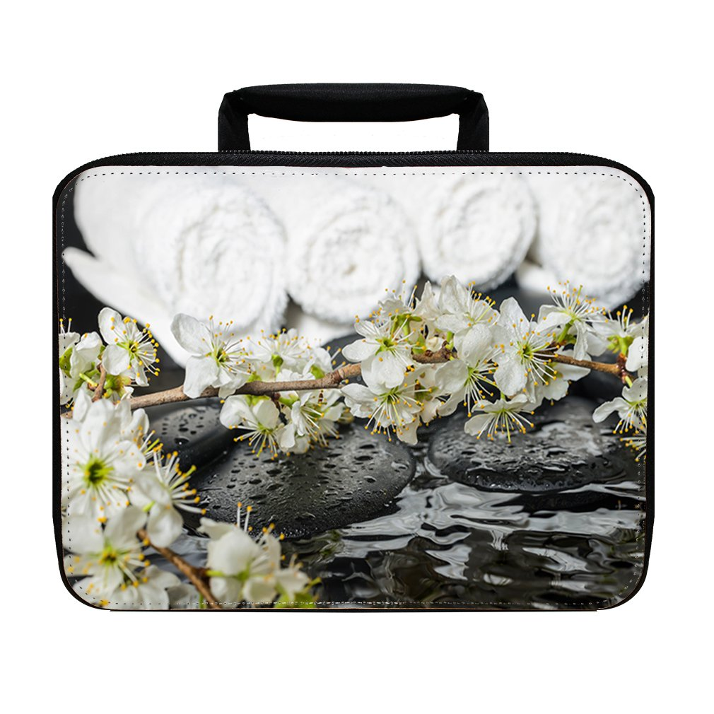 Spring Spa Setting Zen Stones With Drops Insulated Lunch Box Bag