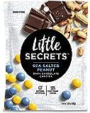 Little Secrets Dark Chocolate Candies, Sea Salted Peanut, 5oz (142g), Pack of 4