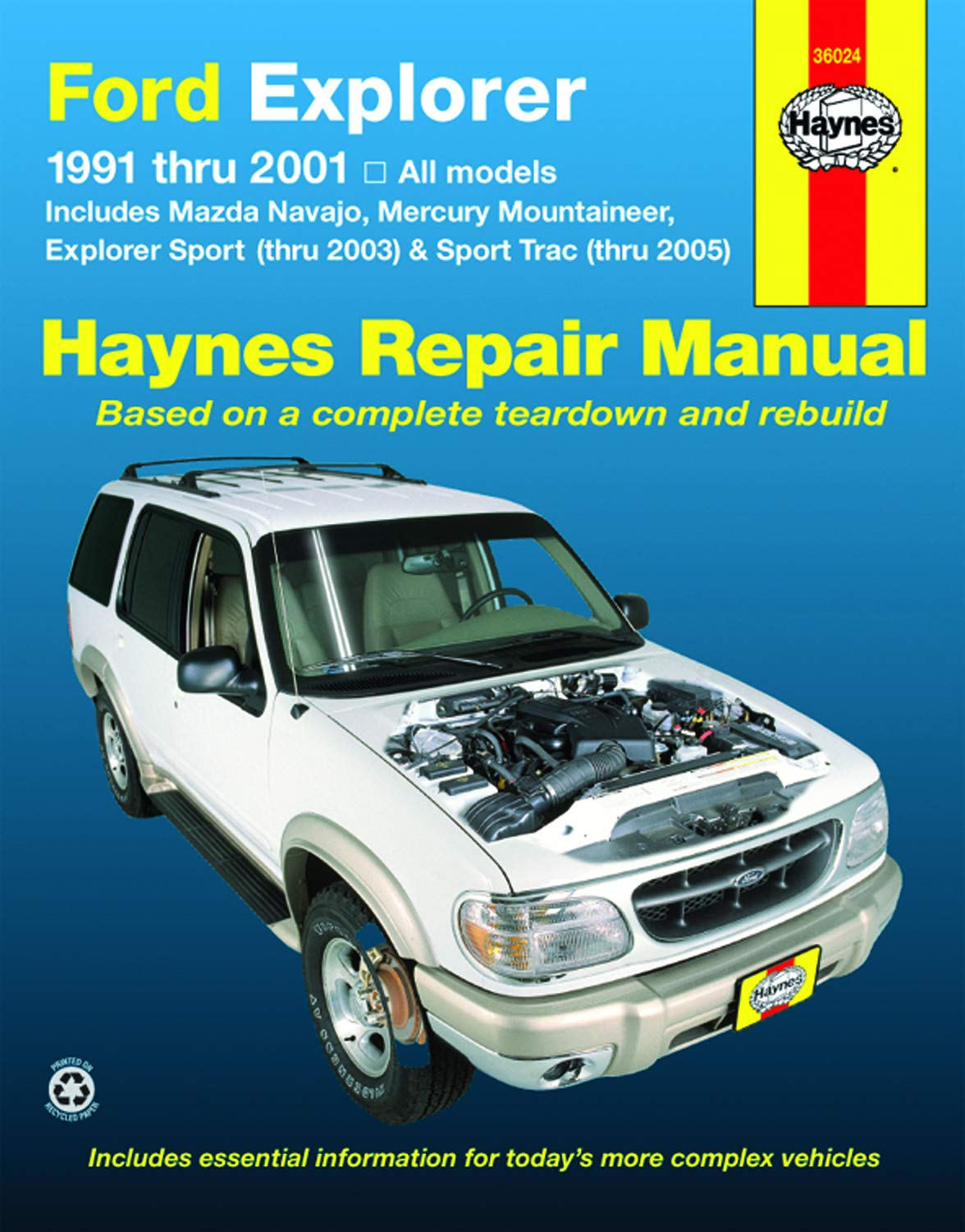 ford explorer 91-01, explorer sport thru 03, sport trac 05: john h. haynes,  jay storer: 9781563925917: amazon.com: books  amazon.com