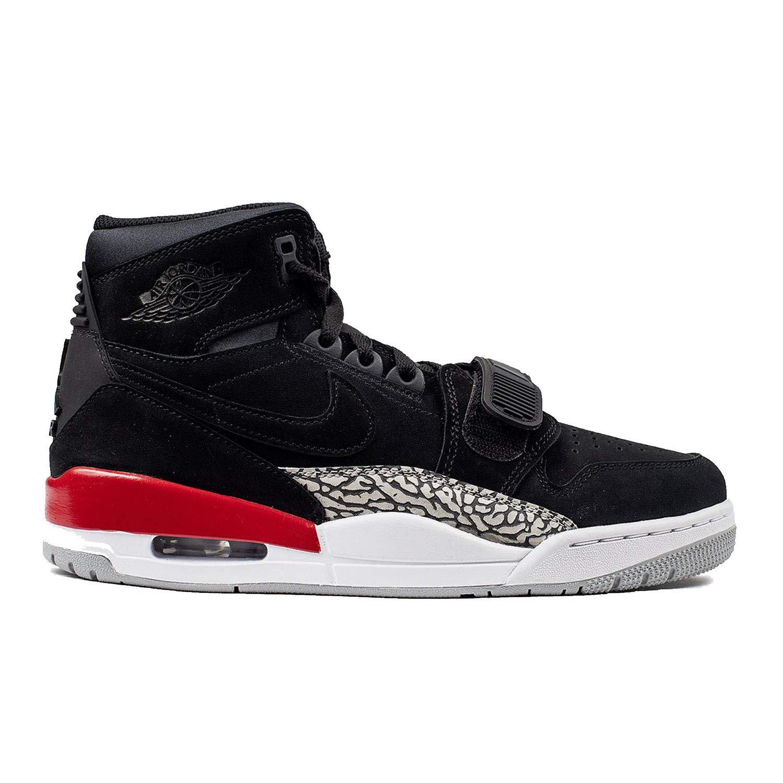 Jordan Mens Air Legacy 312 Hight Top, Black/Black/Fire Red, Size 11.5