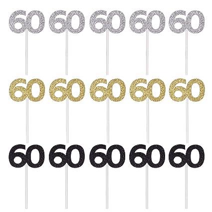 Qibote - Juego de 36 adornos para magdalenas de 60 ...