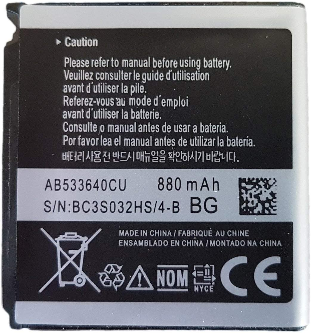 Quality Cellular/® SGH-S366 Replacement Samsung Battery AB533640CU 880 mAh for Helio Mysto SPH-A523
