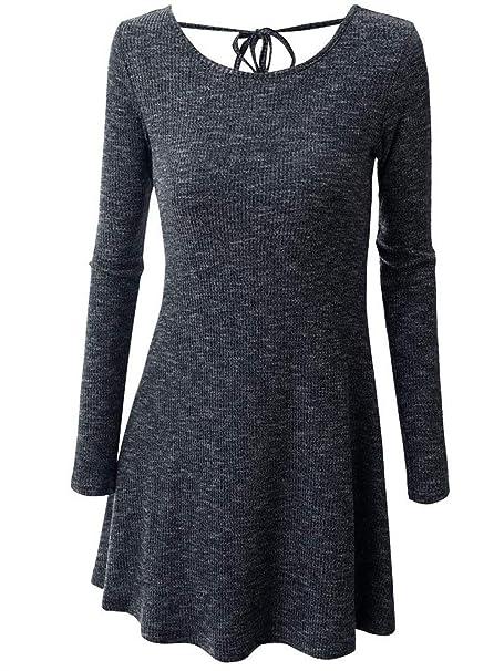 Mujer Vestido De Punto Otoño Invierno Vestidos Elegantes Moda Slim Fit De Tubo Línea A Vestido