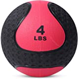 Medicine Exercise Ball with Dual Texture for Superior Grip by Day 1 Fitness - 4 Pounds - Fitness Balls for Plyometrics…