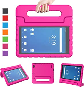 """LTROP Onn 7 Inch Tablet Case, Onn 7 Tablet Case for Kids, Light Weight Shockproof Convertible Handle Stand Kids Case for Walmart Onn 7"""" Tablet Android 2019 Edition (Model: 100005206) - Pink"""