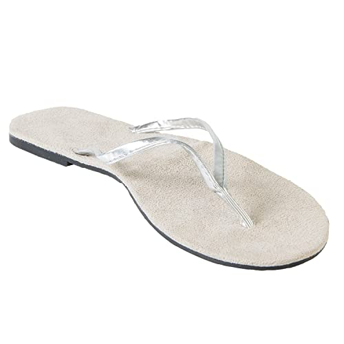 0c979a1f0 DAWGS Hounds Women s Bendable Flip Flops - Silver Size ...