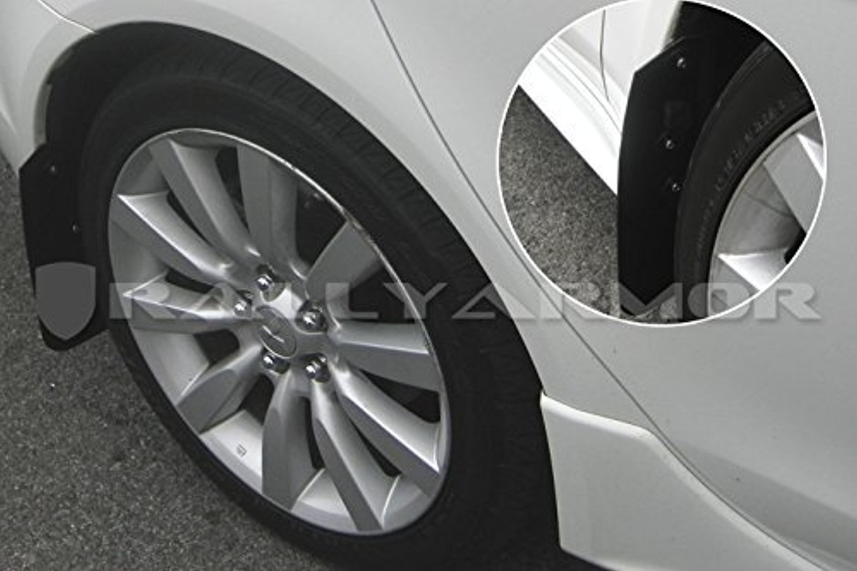 2007+ Mitsubishi Lancer Doesnt fit Sport Back Rally Armor MF8-BAS-BLK Basic Black Mud Flap with Logo