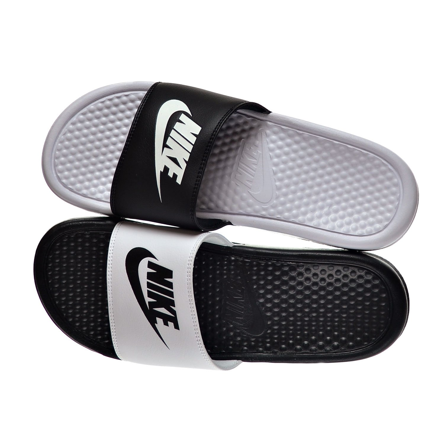 7e5eee56ff72 NIKE Benassi JDI Mismatch Men s Sandals Black White 818736-011 (10 D(M)  US)  Amazon.co.uk  Shoes   Bags