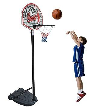 Canasta de baloncesto móvil para niños, para interior y ...