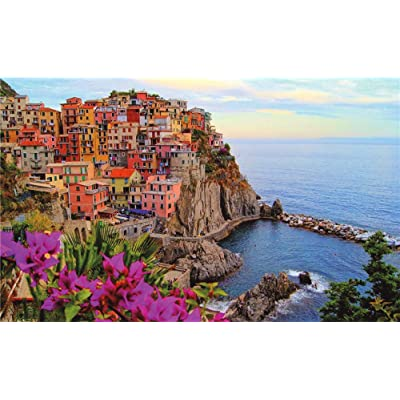 500 Piece Puzzles for Adults Kids Jigsaw Puzzle 18 x 11 inches Famous Landscape Building DIY Intellective Educational Toy Paintings Home Decoration-Italy Cinque Terre: Arts, Crafts & Sewing