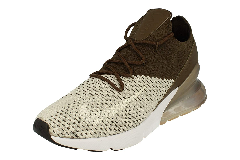 best sneakers aba69 71449 Nike Air Max 270 Flyknit Mens Running Trainers AO1023 Sneakers Shoes (UK  10.5 US 11.5 EU 45.5, Light Bone White Dark Hazel 002)