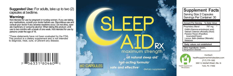 Amazon.com: Sleep Aid RX Maximum Strength Capsules – Buy One Get One Free!: Health & Personal Care
