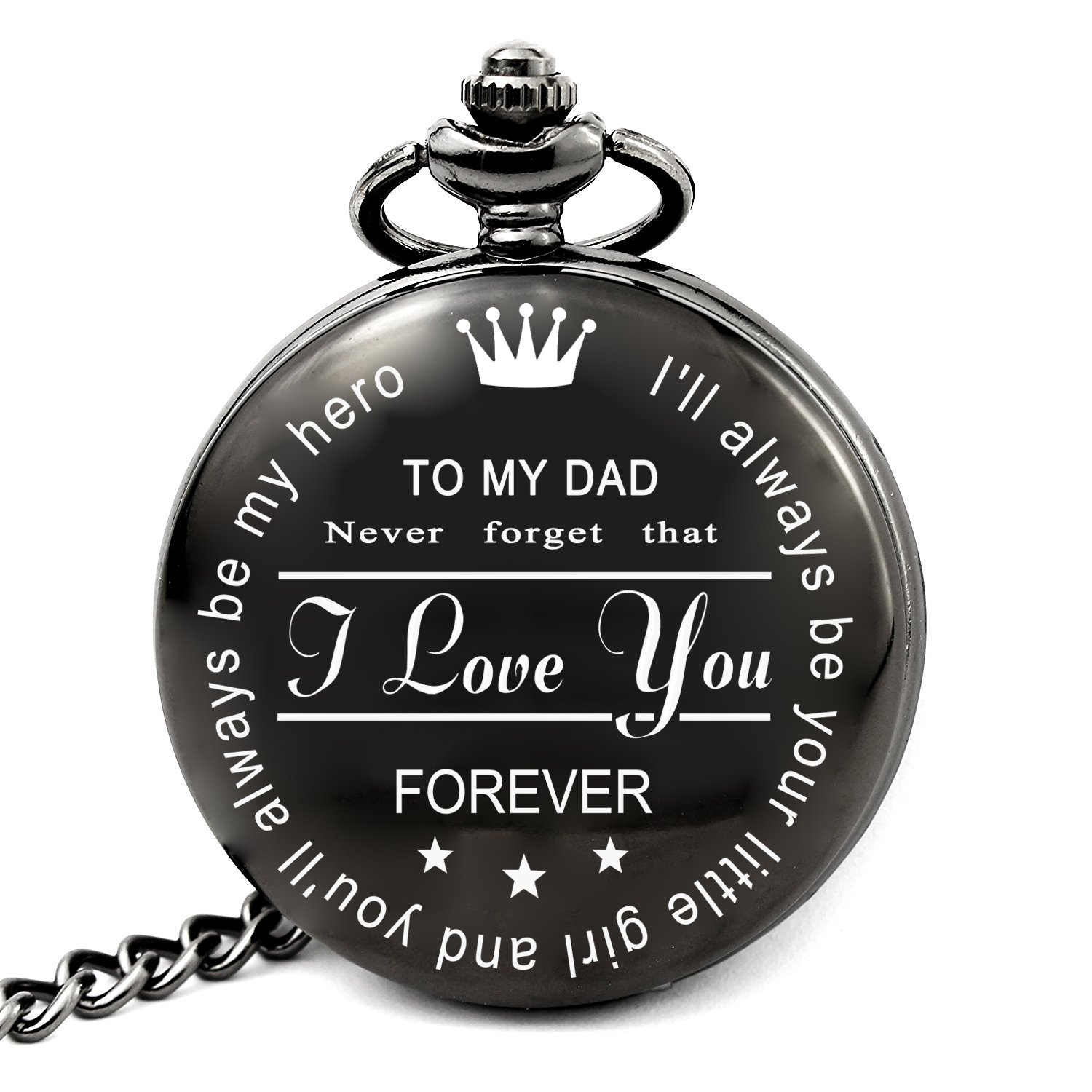 LEVONTA Best Dad Gifts for Dad Birthday Christmas Fathers Day - I'll Always Be Your Little Girl You'll Always Be My Hero