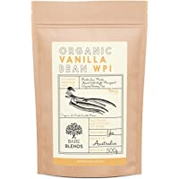 Bare Blends - Natural Whey Protein Isolate & Vanilla Bean   WPI   Whey Protein Powder   Gluten Free   non-GMO   500g