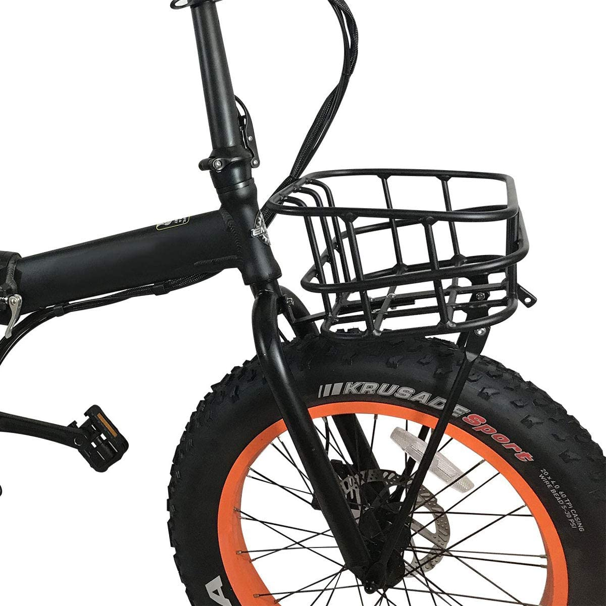 Holds up to 55Lb Voltech Metal Standard Front Basket for Electric Bikes and Most Cycling Bike Aluminum Alloy Frame Easy Install