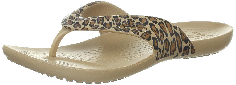 858fa66d720c Crocs womens kadee leopard sandal gold black us flip flops jpg 1500x543  Cute croc flip fops