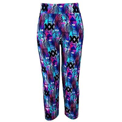 Overmal Women Skinny Flower Print Yoga Sport Pants Printed Stretch Cropped Leggings