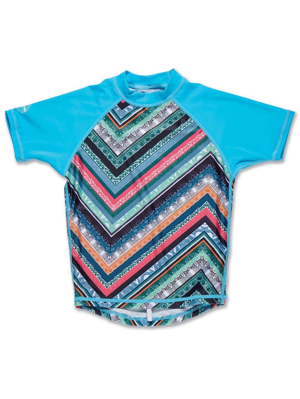 Dakine Girl's Classic Short Sleeve Rashguard Shirt, Native Isle, 8