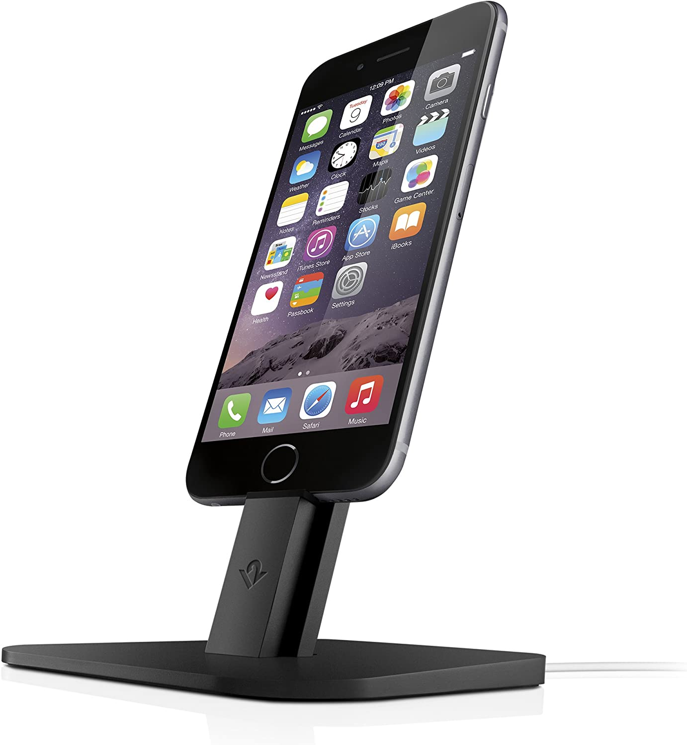 Adjustable Charging Stand Twelve South Hirise for iPhone//iPad Requires Apple Lightning Cable Gold