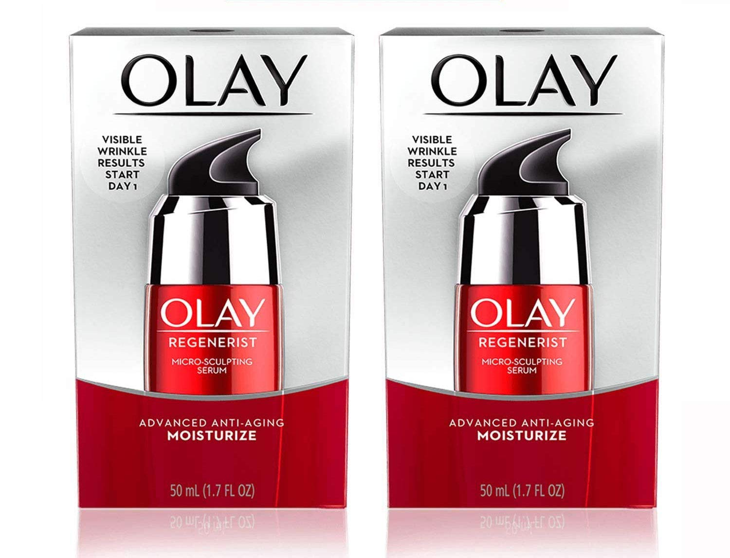 (PACK of 2) 0lay Regenerist Micro-Sculpting Serum Advanced Anti-Aging Moisturize - 1.7 Fl Oz (50ml) EACH
