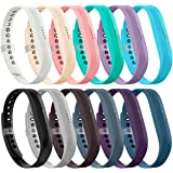 AIUNIT Fitbit Flex 2 Bands, Fitbit Flex 2 Band Accessories Replacement Wristband Adjustable Classic Sport Fitness Watch Band with Metal Clasp for Fitbit Flex 2 Small Large Boys Girls Kids(No Tracker)