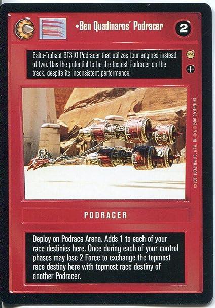 Amazon.com: Star Wars CCG Tatooine Ben Quadinaros Podracer: Toys & Games
