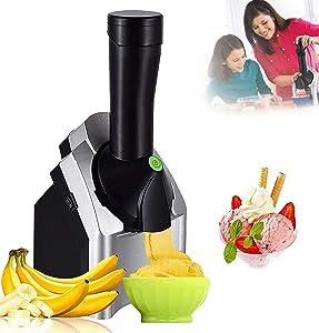 New upgraded home ice cream machine, portable fruit ice cream machine, can make delicious fruit ice cream and frozen yogurt machine