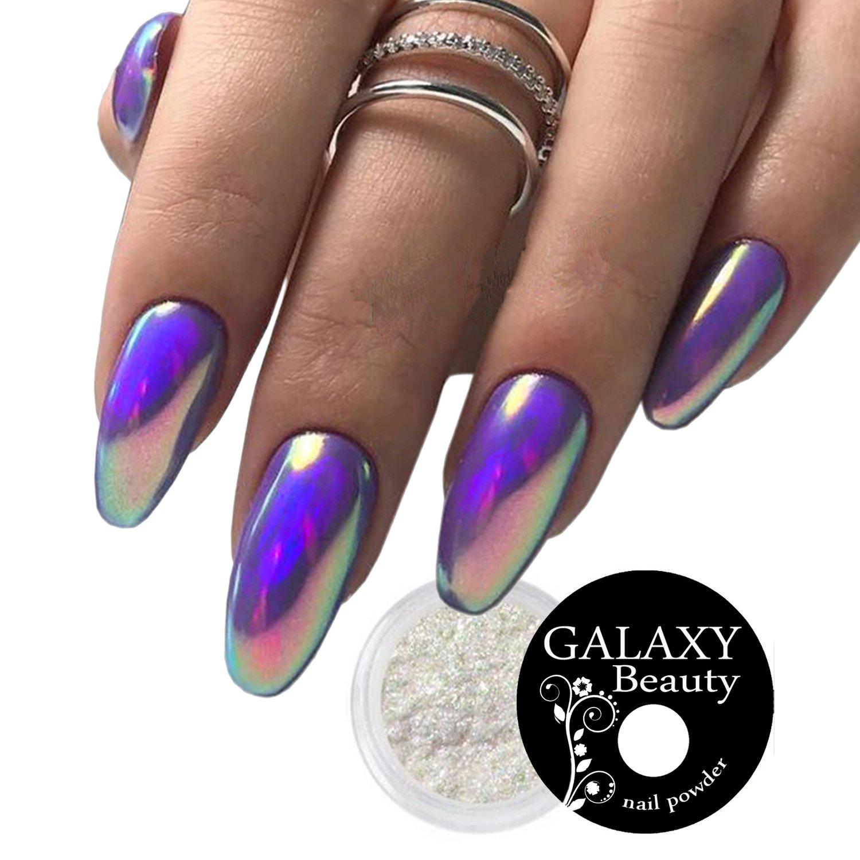 Aurora Neon 0.3g Nail Effect Pigment Powder Glitter Unicorn Rainbow Mermaid Pearl Nails Colour Changing Design Sheen