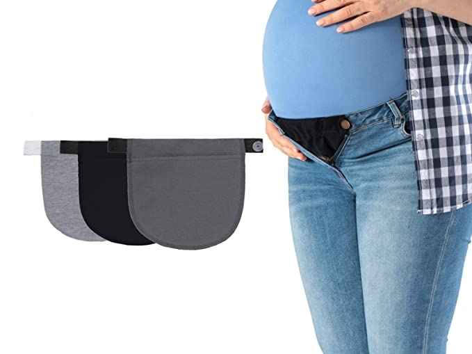 9c69183a6b46a FUN2BEMUM Set of 3 Pregnancy Adjustable Waist Jeans Trousers Band ...