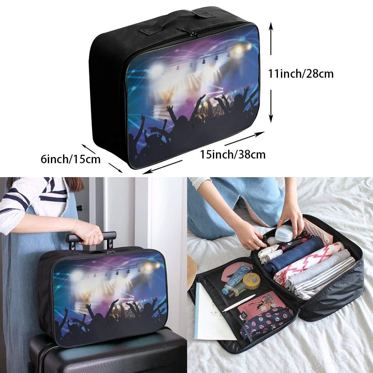 Travel Luggage Duffle Bag Lightweight Portable Handbag Dance Music Large Capacity Waterproof Foldable Storage Tote