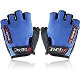 Non-Slip Gel Pad Gloves Men's Women's Sportswear Cycling Riding Gloves Breathable Half Finger-Optional multi-color