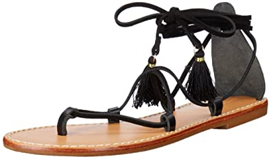 7f3ec68e320 Soludos Women s Gladiator Lace Up Sandal Flat Black 7 ...
