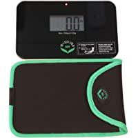 NewlineNY Step-on Super Mini Smallest Travel Bathroom Scale with Protection Sleeve: SBB0638SM-BK (Black) + NY-SMS-S001…