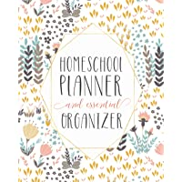 Mega Homeschool Planner and Organizer Soft Flora: Fully Customizable Planner, Organizer, and Record Keeper for…