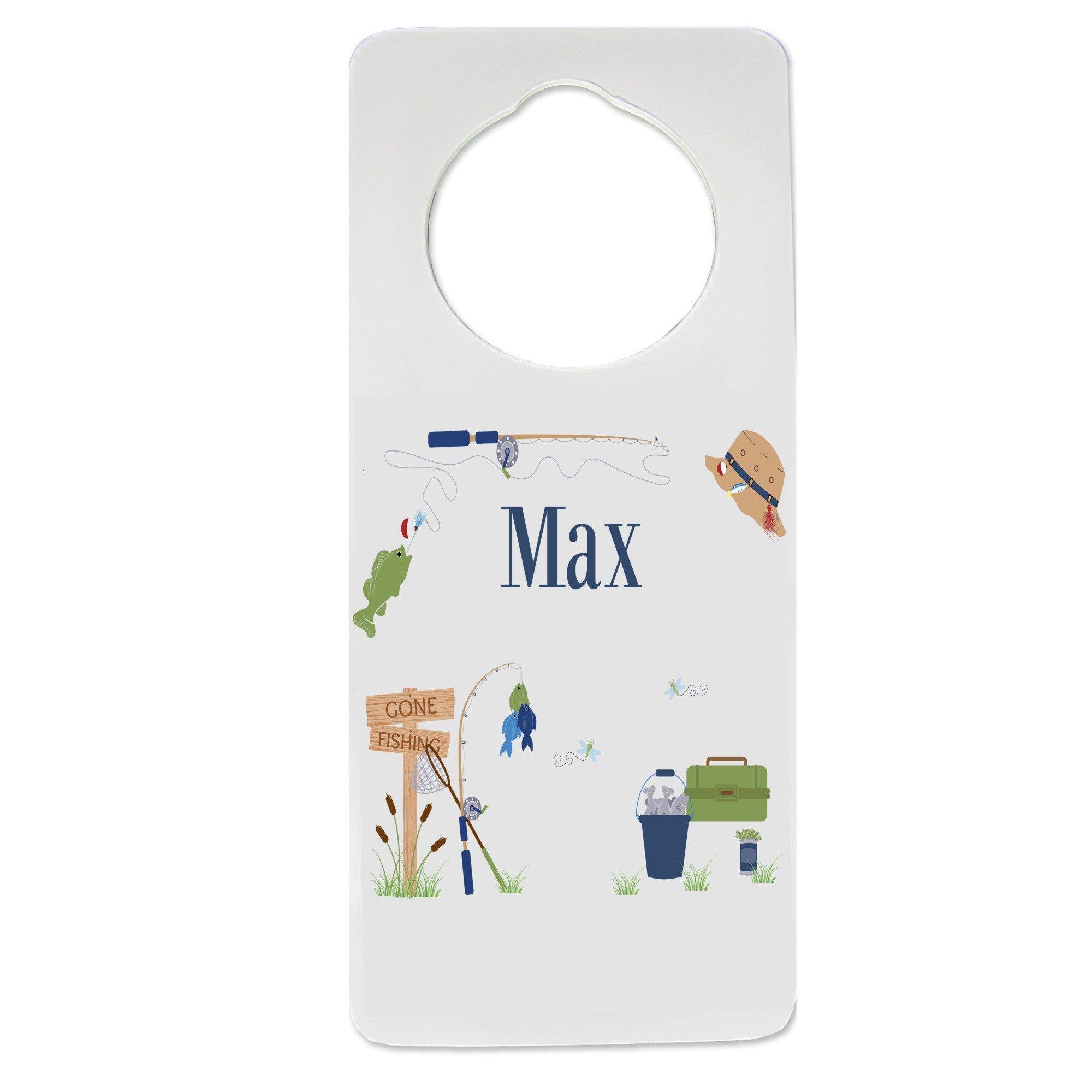 Personalized Gone Fishing Nursery Door Hanger