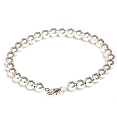 d228dfe0418 Amazon.com: Seven Seas Pearls Gold Filled Beaded Ball Bracelet with Lobster  Clasp 4 mm Beads 6
