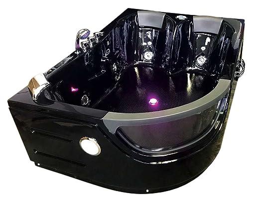 Vasche Da Bagno Angolari 120 120 : Vasca bagno idromassaggio angolare nera modello orion cm