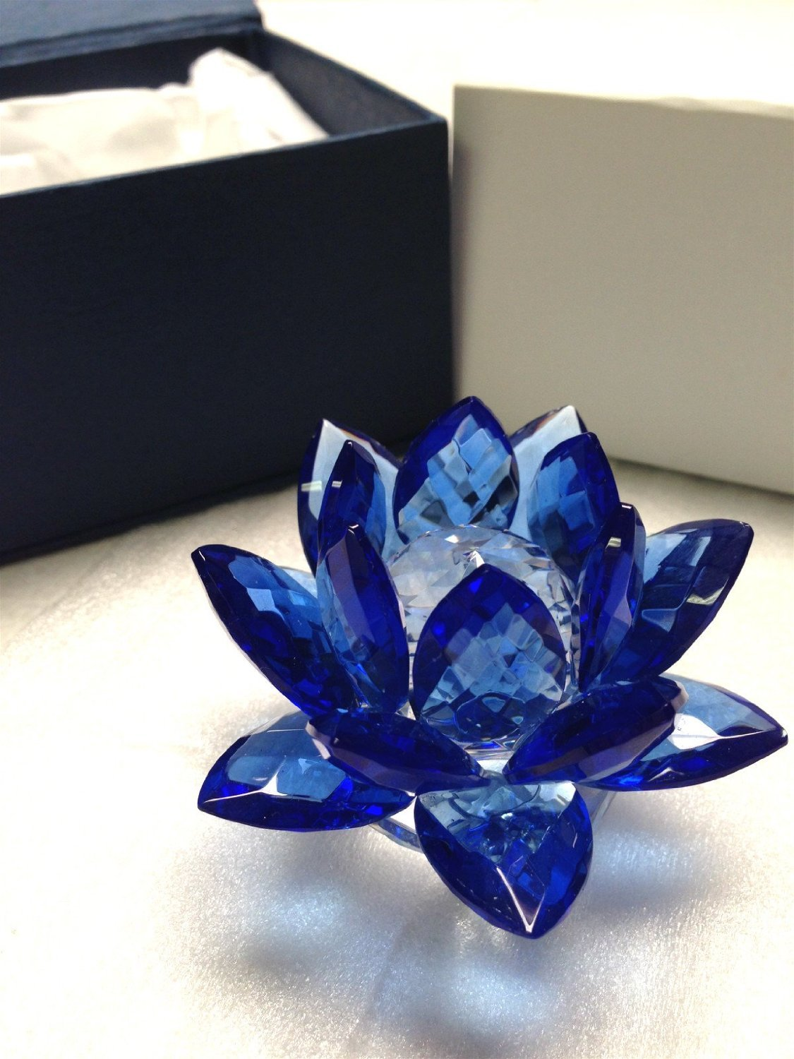 Amazon Amlong Crystal 3 Inch Sapphire Blue Crystal Lotus Flower