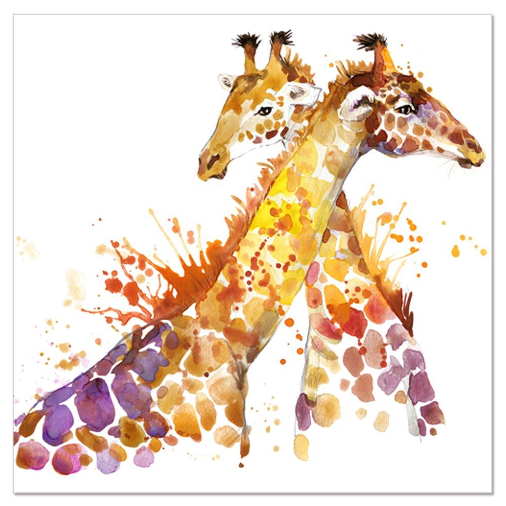 Amazon.com: Animal Canvas Wall Art Abstract Giraffe Watercolor ...